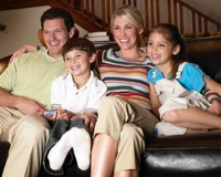 This could be your family tonight enjoying satellite tv.